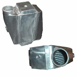 Universal Water To Air Intercooler 12 x12 25 x4 5 3 Opposite Inlet outlet