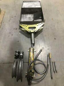 Greenlee 880 m2 1 1 2 Hydraulic Pipe Bender W Enerpac Hydraulic Pump 10 000psi