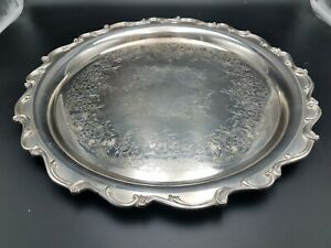 Vintage Wilcox International Silver Co Joanne 7272 Footed Tray 14 5