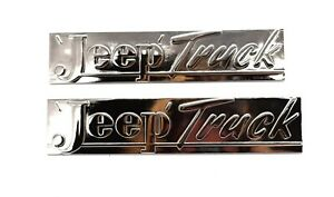 Jeep Truck Hood Emblems Willys Jeep Pickup 1947 1949 Pair