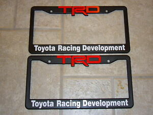 Trd License Plate Frames Red And White Lettering