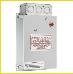 Pam 300 1 3 Hp 220 Vac Phase a matic Phase Converter