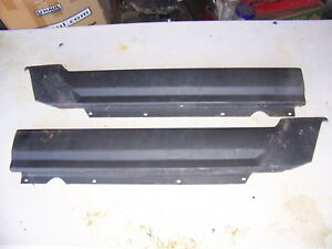 1970 Dodge Dart Rear Upper Metal Door Panels 2d Oem Pair