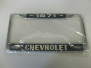1971 Chevrolet Logo Chrome License Plate Frame