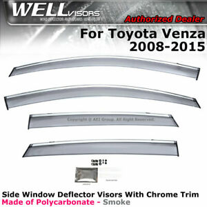 Wellvisors For Toyota Venza 08 17 Side Clip On Window Visors Deflectors