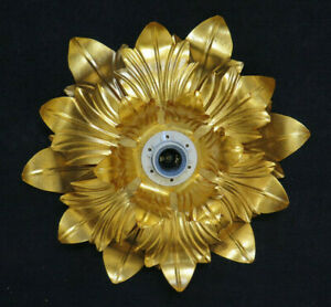 Chandelier Ceiling Light Golden Vintage Wrought Iron Flower Large Magnolia Wall