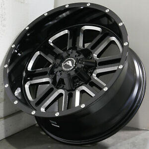 20x10 Black Milled Wheels American Off Road A106 6x135 6x5 5 24 Set Of 4