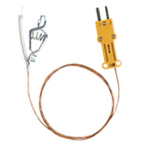 Fieldpiece Ataf1 High Temp K type Thermocouple With Alligator Clip