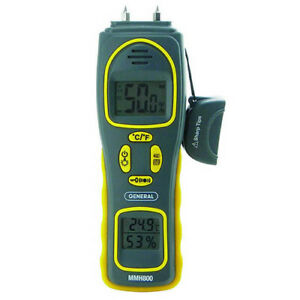 General Tools Mmh800 Pin pinless Moisture Meter W temp And Humidity