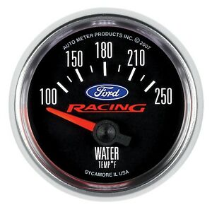 Autometer Ford Racing Water Temp Gauge 100f 250f 2 1 16in