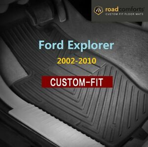 Custom Fit Ford Explorer 2002 2010 Car Floor Mats Front Row Only 2pcs