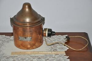Old Vtg Copper ELECTRIC Melting Pot Cauldron  Lead Candy Chocolate Making ?????