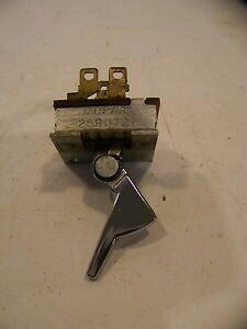 1966 67 Plymouth Belvedere Satellite Gtx Heater A C Blower Switch 2580721 Oem