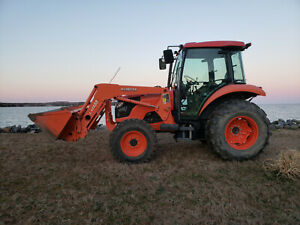 Kubota M5140 Tractor 4x4 Loader Grand Cab Ac heat Stereo cd 452 Hrs