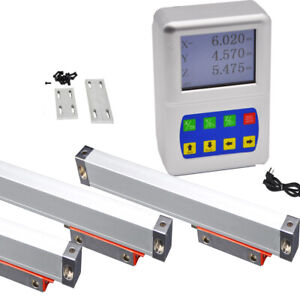 3 Axis Dro Digital Reaodut Linear Scale Kit 0 1000mm For Milling Machine