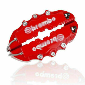 4 Pcsbrake Caliper Cover Kits Red Universal Style Disc Front And Rear Lw07 4 Pcs
