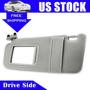 Drivers Side Sun Visor Sunshade For 2007 2011 Toyota Camry Without Sunroof Gray