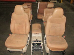 2005 Expedition King Ranch Front Rear Third Row Seats W Console 6cd Changer Oem