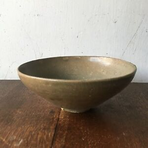 Antique Korean Koryo Goryeo Crackle Glaze Celadon Bowl 7 25