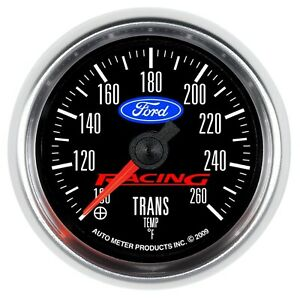 Autometer Ford Racing Transmission Temp Gauge 100f 260f 2 1 16in