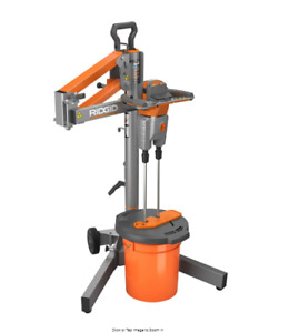 Electric Power Mortar Mud Grout Mixer Smart Dual Paddle Portable W Stand Ridgid