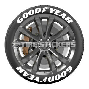 Good Year Tire Lettering 75 For 19 20 21 Wheels 8 Decals Low Profile