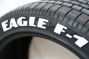 Tire Lettering Good Year Eagle F1 1 5 For 17 And 18 Wheels 8 Decals