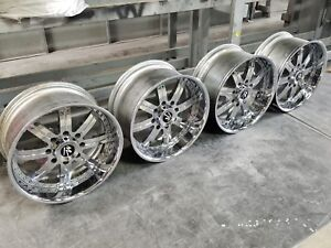 20 Chrome Forged Chevy Gm Gmc Hummer H2 2500 3500 22 24 8 lug Wheels Denali