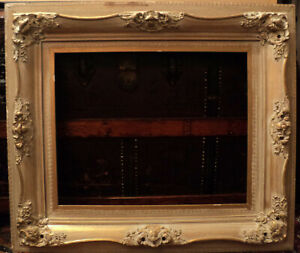 Antique Gold Gilded Decorated Wooden Picture Frame