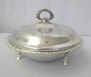 Wm Rogers International Silver 1 1 2 Qt Covered Casserole Vegetable Dish Ornate