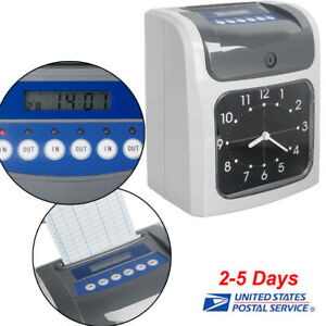 Electronic Employee Analogue Time Recorder Time Clock card Monthly weekly Office