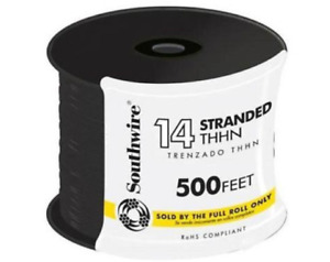 Black Stranded Cu Thhn Wire 14gauge Electrical Building Wire 500ft Csa Certified