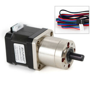 42 Precision Planetary Geared Stepper Motor Nema17 Ratio 1 27 High Quality