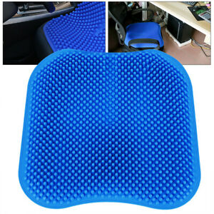 Silica Gel Car Interior Seat Cover Cushion Silicone Blue Gray45 45 3cm Universal