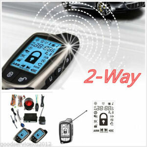 Auto Suv 2 way Car Alarm Security System With 2 Remote Anti theft W siren