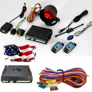 2 Way Car Alarm Security System With 2x Super Long Distance Controller 433 92mhz