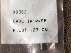 RCBS CASE TRIMMER PILOT 27 CALIBER NEW OLD STOCK