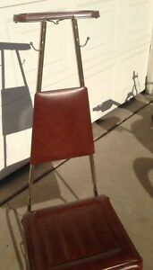 Vintage Men S Suit Valet Wardrobe Hanger With Padded Seat