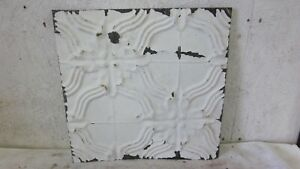 Antique 12 X 12 Salvaged Detailed Victorian Metal Tin Ceiling Tile