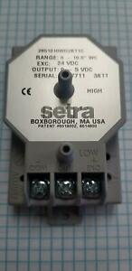 Setra 2651010wd2bt1c Differential Pressure Sensor New Old Stock