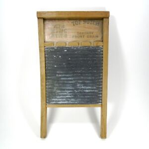 Vintage Antique National Washboard Co 701 Washboard The Zinc King Top Notch