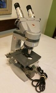 Ao Spencer Monocular Microscope model 1037 With 3 Objectives 10x 45x 100x