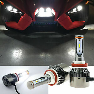 For Polaris Slingshot S Sl Slr Lecenter Light Hid White Led Headlight Kit Bulbs