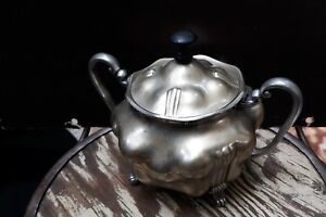 Barbour Silver Co Antique Vintage Art Nouveau Deco Sugar Bowl W Lid 4009