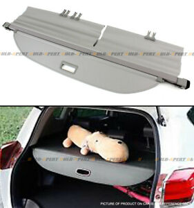 For 2013 18 Toyota Rav4 Retractable Trunk Cargo Cover Luggage Shade Shield Grey