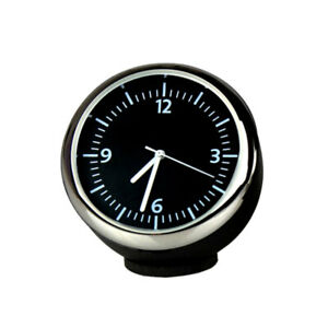 1x Steel Car Auto Vehicles Time Clock Meter Fit For Dashboard Ornament Decor