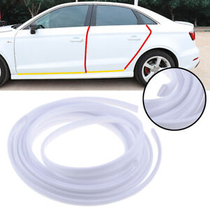 5m White Moulding Trim Strip Car Door Scratch Protector Rubber Edge Cover