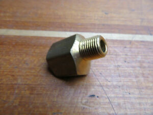 Aeroquip Weatherhead 352x6x2 45 3 8 X 1 8 Brass Inverted Flare Street Elbow