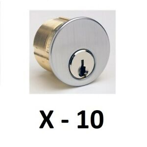 10 Kaba Ilco Mortise Cylinder With Yale 8 Keyway Satin Chrome With 2 Keys
