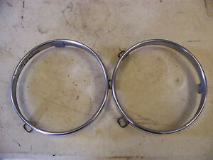 1963 Plymouth Headlight Retaining Rings Sport Fury Savoy Belvedere 1964